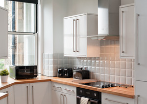 The modern fully equipped kitchen - Complete with all the high quality appliances you may need during your stay.