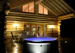 3403 - All hidden river cabins have hot tubs overlooking the river.