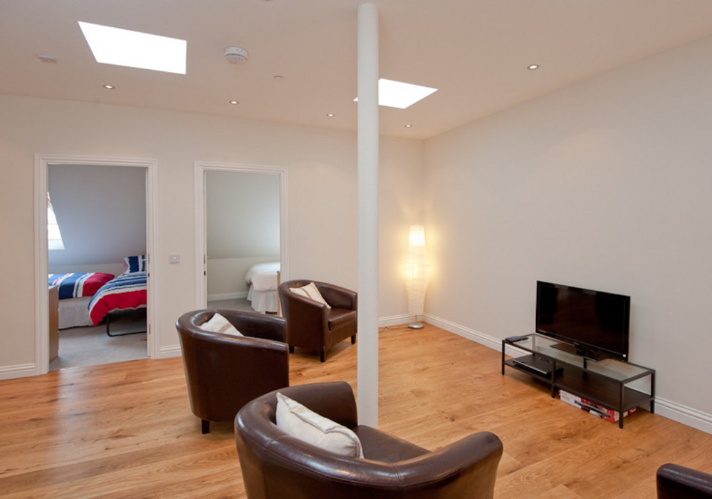Additional space - The upper floor lounge is ideal for groups staying at the apartment, allowing plenty of space to relax (and for grown-ups to get some space from the children!).