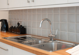 Spacious and modern - The kitchen also benefits from a dishwasher, washing machine and microwave.